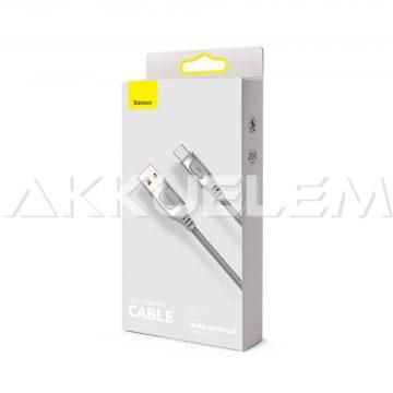 Baseus USB-A 2.0 / USB-C Type-C 2m Quick Charge 5A SZÜRKE