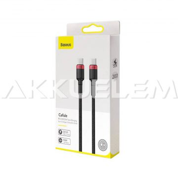 Baseus USB Type-C PD 2.0 2m 3A gyors 480Mbps 100W