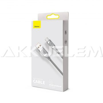 Baseus USB-A 2.0 / USB-C Type-C 1m Quick Charge 5A SZÜRKE