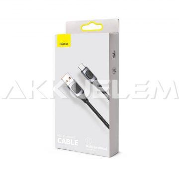 Baseus USB-A 2.0 / USB-C Type-C 1m Quick Charge 5A FEKETE
