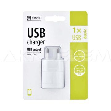 Adapter V0115 USB hálózati töltő DC5V 1A