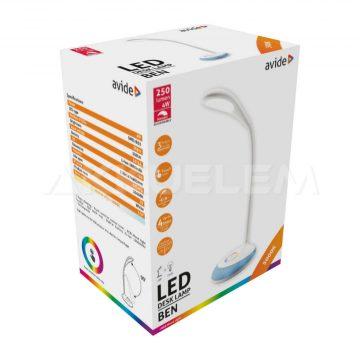 Avide BEN asztali lámpa 4W hajlítható 250lm 170° 5000K tölthető